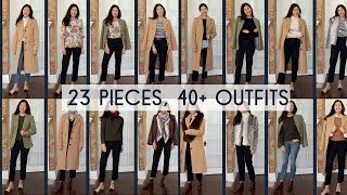 How To Make A Colorful Fall Capsule | 23 Pieces, Over 40 Looks
