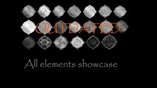 [OUTDATED] All elements showcase (from top to bottom, READ DESC) | ROBLOX Elemental Battlegrounds