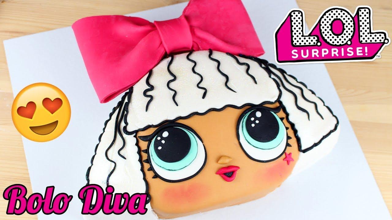 Bolo lol surprise diva como fazer bolo decorado da lol surprise diva youtube - Diva lol surprise ...