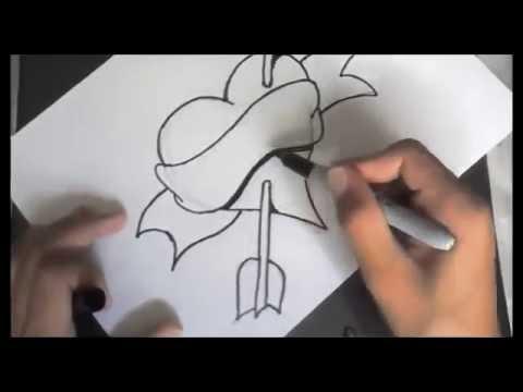 Como desenhar um coração personalizado!   YouTube