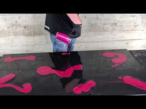 3D Technique | Hot Pink & Black Epoxy Board | Leggari Products