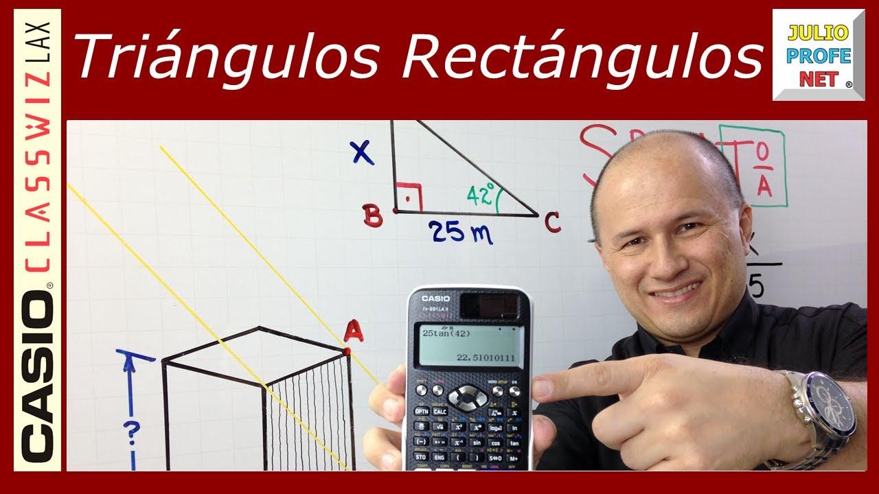 Problema 1 de TRIGONOMETRÍA EN TRIÁNGULOS RECTÁNGULOS - ft. Casio Classwiz