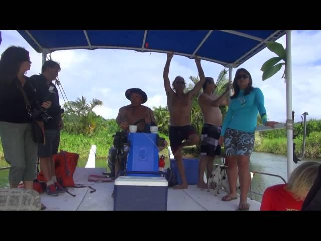 Congresswoman Tulsi Gabbard visits Hanalei Bay
