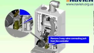 Демонтаж трехходового клапана(Видеоинструкция по демонтажу, замене и ремонту котлов NAVIEN NCN http://www.navien.org.ua http://shop.navien.org.ua., 2013-09-16T08:14:42.000Z)