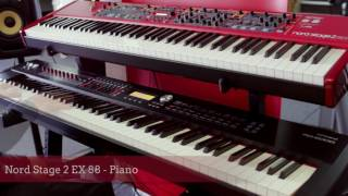 Roland RD-2000 vs. Nord Stage 2 EX 88 Digital Stage Piano Sound Comparison