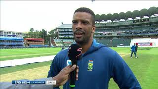 South Africa v England | 4th Test Day 2 | Interview with Vernon Philander on his play on day 1