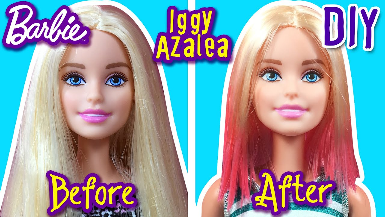 Iggy Azalea Hair Tutorial for Barbie Doll - How to Make Barbie ...