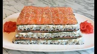 """Салат """"Филадельфия"""" Поразит Своим Невероятным Вкусом и Красотой!!! / Салат Суши / Philadelphia Salad"""