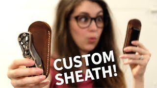 We Make a Leather Knife Sheath