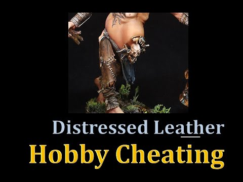Hobby Cheating 243 - How to Paint Distressed Leather indir