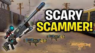 Scary Raging Scammer Scams Himself! (Scammer Get Scammed) Fortnite Save The World