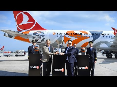 Turkish Airlines EuroLeague trophy lands in Istanbul!