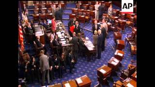 A bill to raise the debt ceiling and cut federal spending limits passed the Senate just after noon T