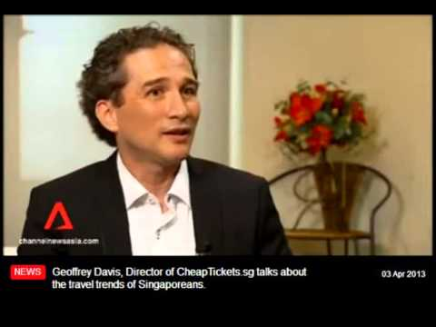 CheapTickets.sg interview Channel News Asia about tourism trends Asia - Geoffrey Davies