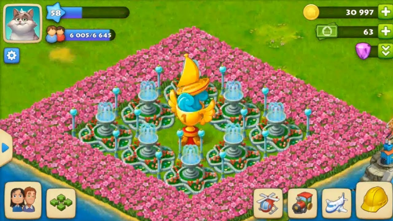 Township - How to Decorate Golden Sail Decoration in township