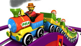 CHOO CHOO CARTOON FOR KIDS - TRAINS FOR CHILDREN - CARTOON CARTOON - TOY FACTORY