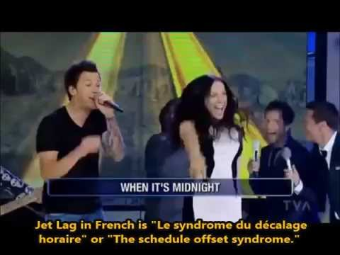 Jet Lag Marie-Mai Simple Plan French English Lyrics Subtitles Learn French with Songs Paroles