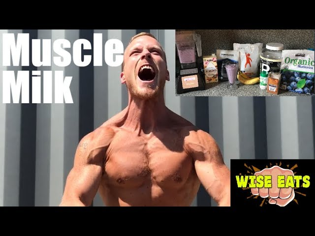 Wise Eats Muscle Milk Recipe Video - Berry Vanilla (Workout Recovery Shake)