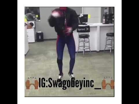 Shopping Phone Sprint Spider-Man Dance 😂🙌🏾💯