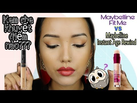 Che khuyết điểm INSTANT AGE REWIND hay là MAYBELLINE FIT ME???