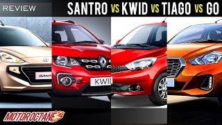 2018 Hyundai Santro vs Tiago vs Kwid vs Go Comparison Talk | Hindi | MotorOctane