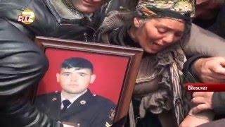 Şəhid Ruhin Qəhrəmanov Biləsuvarda dəfn edildi