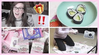 Vlog #9 ●  Mystery Package, Instagram  Photography & Sorting  my  Kawaii  Draw