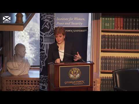 First Minister speech at Georgetown University