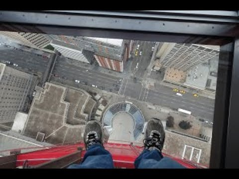 Calgary Tower Glass Floor Walk Around Surrounding Area Youtube
