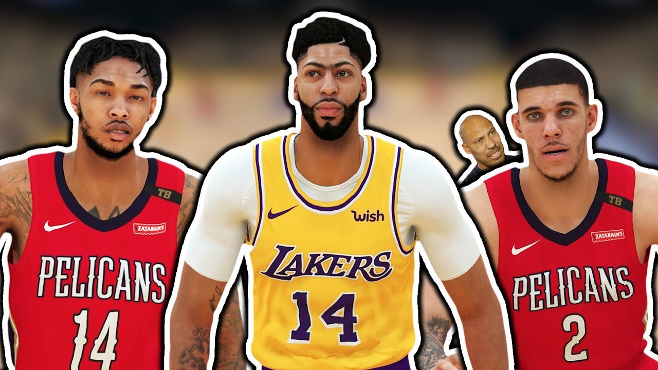 ANTHONY DAVIS Traded To LAKERS NBA 2K19 Roster Update - YouTube