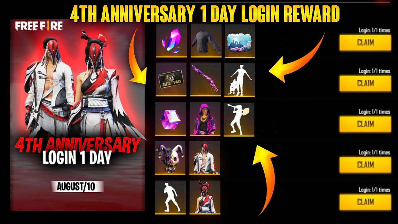 4th Anniversary Event Free Fire | Free Fire 4th Anniversary Event Kab Aayega | Free Fire New Event