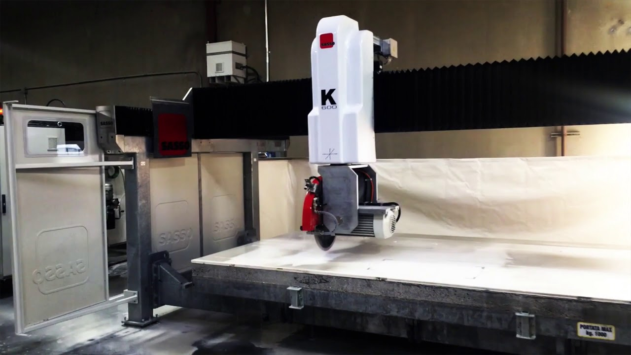Installing two Sasso K600 Five Axis Saws in Auburn Washington