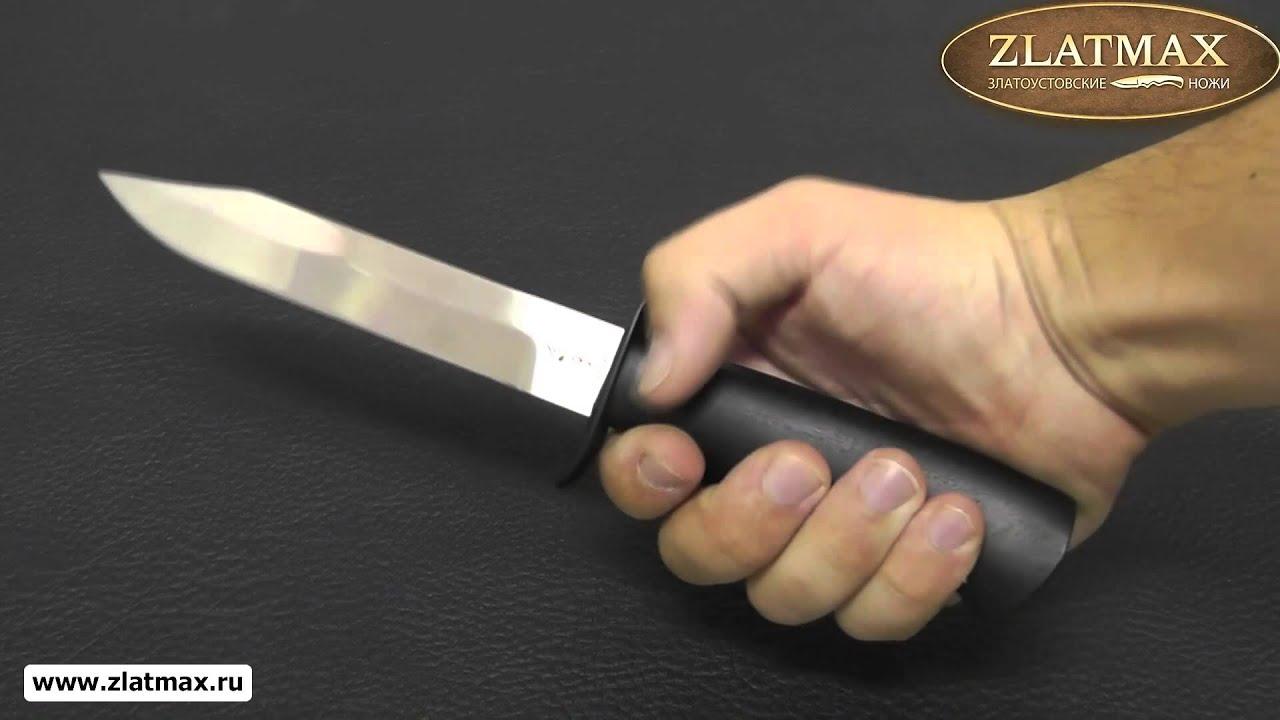 Видео Черный нож (НР-40) (40Х10С2М, Орех, Нержавеющая сталь)