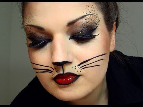 sexy cat halloween makeup youtube. Black Bedroom Furniture Sets. Home Design Ideas
