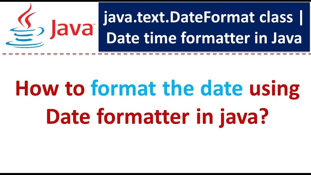 java text DateFormat class - How to format the date using Date formatter in  java