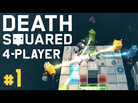 Death Squared - #1 - Co-op Puzzle Cubes! (4 Player Gameplay)