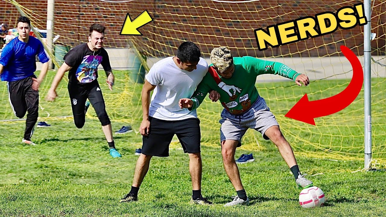 NERDS PLAY SOCCER (Football) *Breaking Legs*