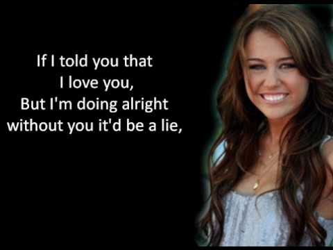 Miley Cyrus - Scars LYRICS