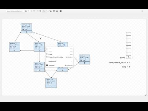 Finding Strongly Connected Components  - A Hand Executed Example