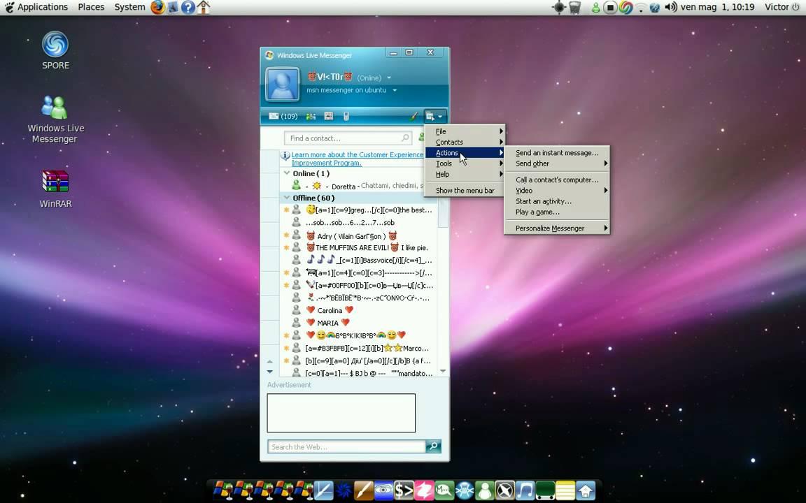 Install Windows Live Messenger 2008 or 2009 on Ubuntu With