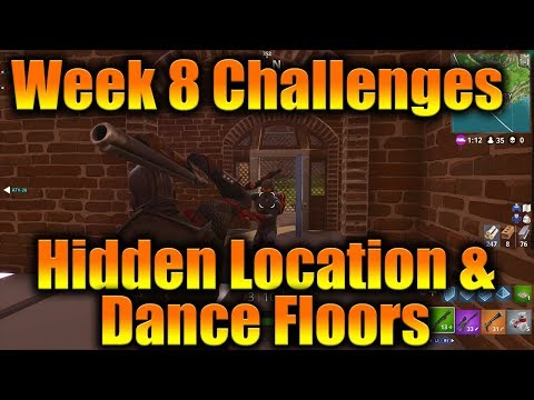 Week 8 Challenges: Hidden Location & Dance Floors - Fortnite