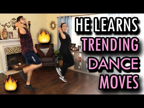 Teaching My Boyfriend Trending Dance Moves!!