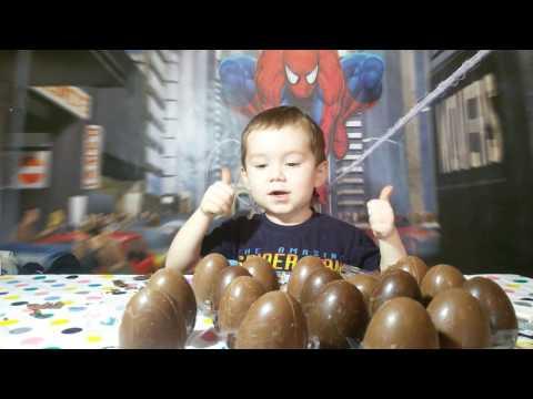 30 шоколадных яиц с игрушками открываем игрушки из разных коллекций eggs with toys Kinder surprise