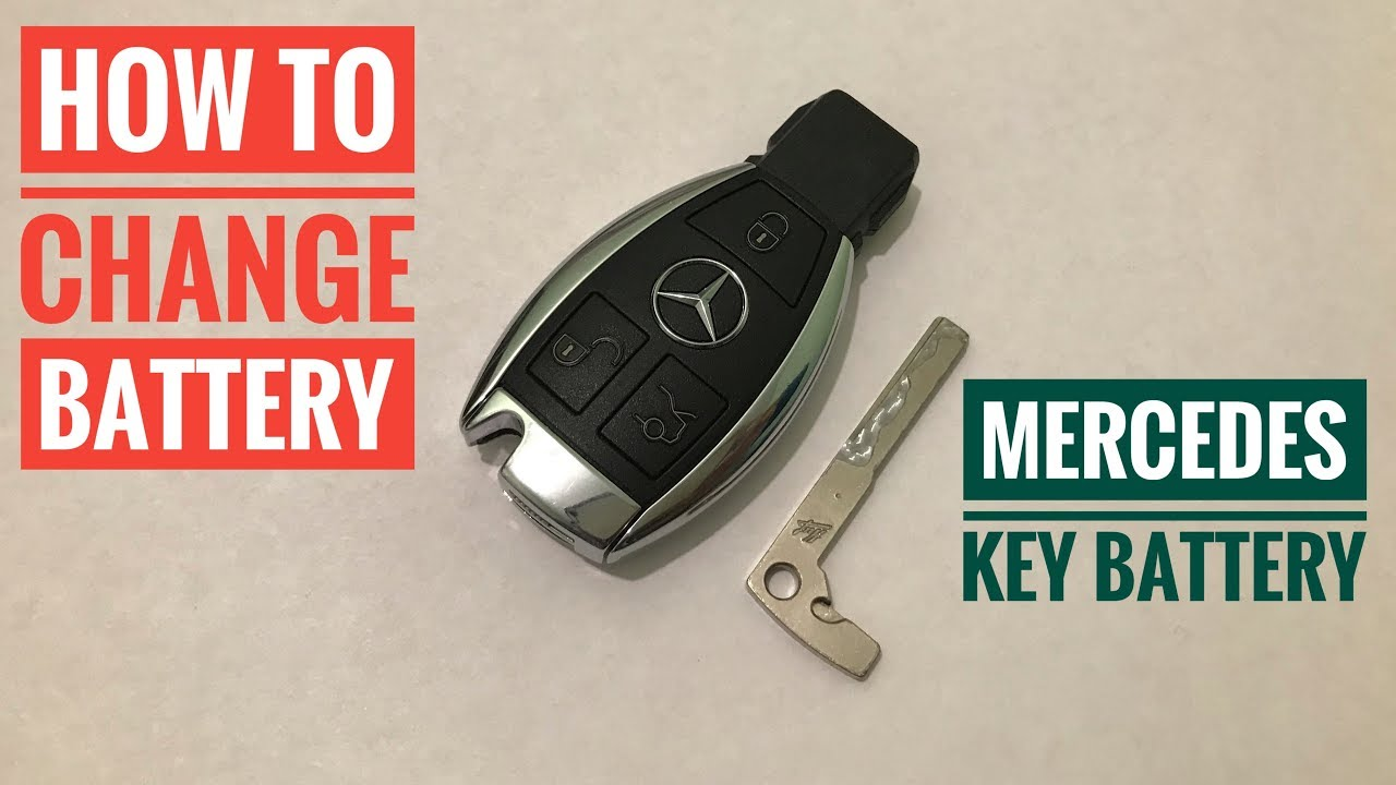 Mercedes key Fob battery replacement How to change key ...