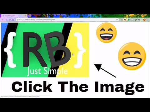How To Make A CLICKABLE IMAGE In HTML