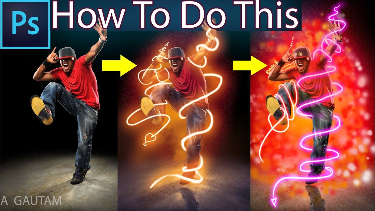 How create a Glow effect in Photoshop Dance effect 🔥🔥🔥