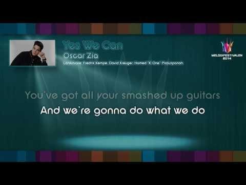 "Oscar Zia - ""Yes We Can"" - (on screen lyrics)"