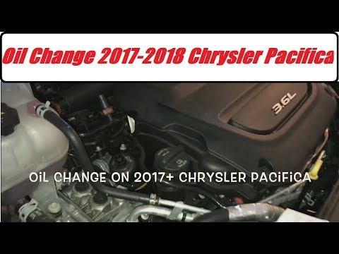 Chrysler Pacifica Oil Change 3 6l Pentastar 2017 2018