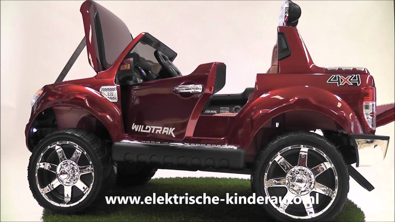 kinderauto ford ranger rood rubberen banden youtube. Black Bedroom Furniture Sets. Home Design Ideas