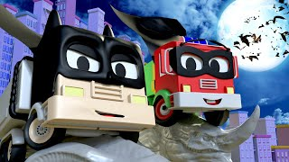 Car garage for kids -  Frank and Baby Frank are Batman & Robin - Tom